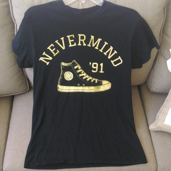 744747cf3b0 Hot Topic Tops - Nirvana Nevermind  91 Converse Unisex T-Shirt